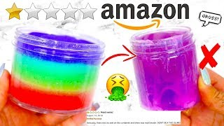 BUYING THE WORST RATED AMAZON SLIMES! *i got scammed*