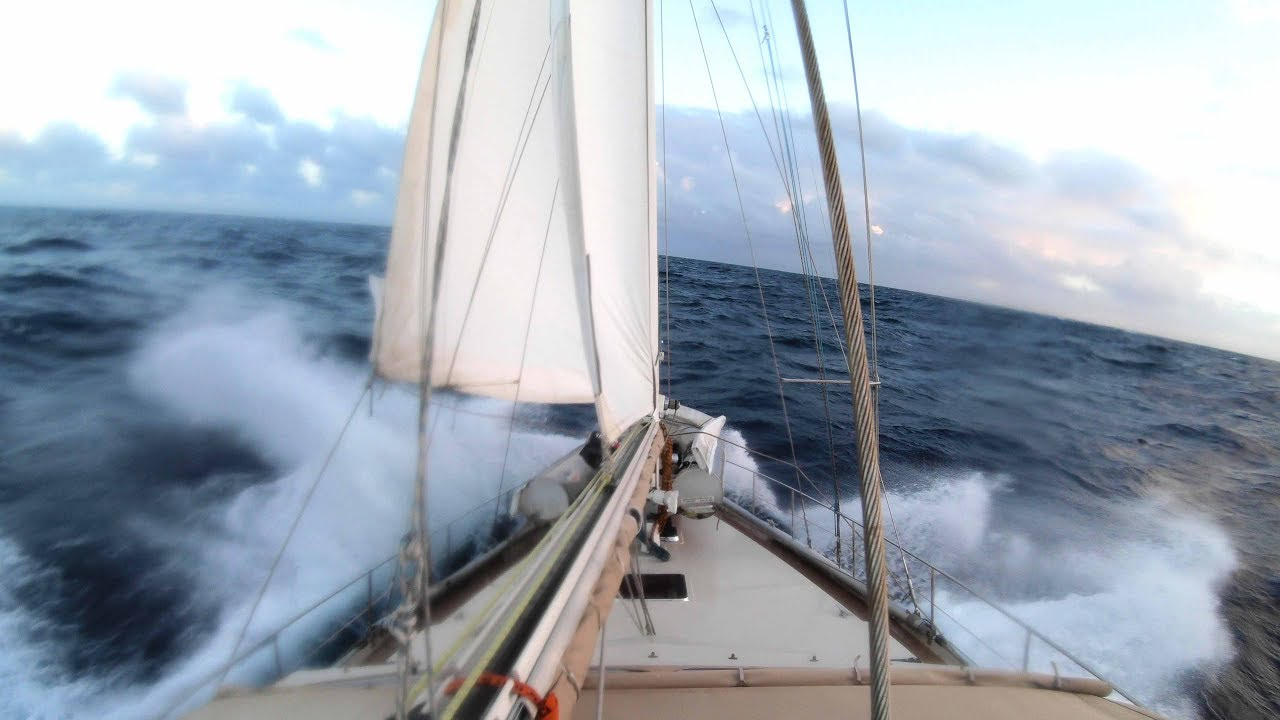 slow tv beating upwind to grenada sailing vessel delos youtube