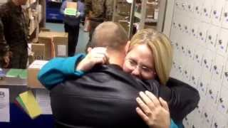 Marine surprises his wife just in time for the holidays!