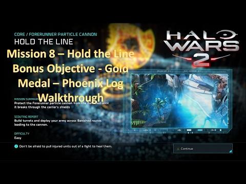 Mission 8 - Hold the Line - Bonus Objective - Gold Medal - Phoenix Log Walkthrough (Halo Wars 2)
