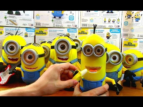 Massive Set Minions 2015 Exclusive Electronic Toys Singing Dancing Bob Stuart And Kevin Youtube