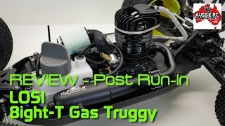 review post run in losi 8ight t gas powered truggy