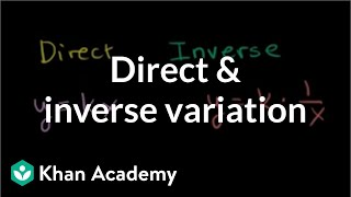 direct and inverse variation rational expressions algebra ii khan academy