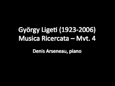 Ligeti - Musica Ricercata - Mvt. 4