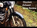 Titanium Exhaust wrap for Royal Enfield Bullet Exhaust pipe