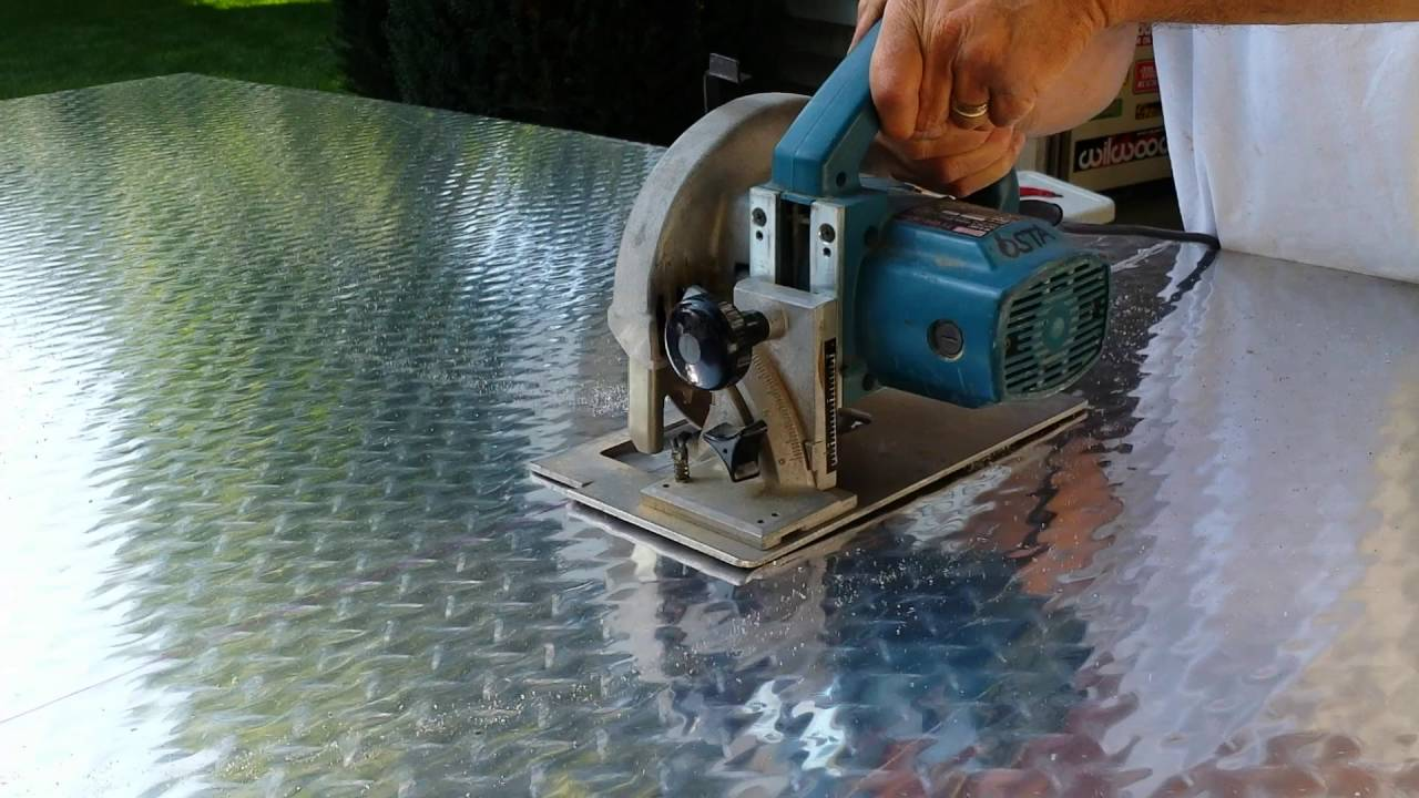 How To Cut Diamond Plate Youtube