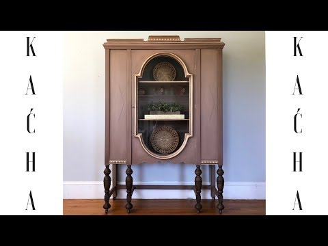 DIY China Cabinet Makeover With Chalk Paint