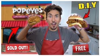 How To Make Popeyes Chicken Sandwich Recipe At Home *MUST TRY*