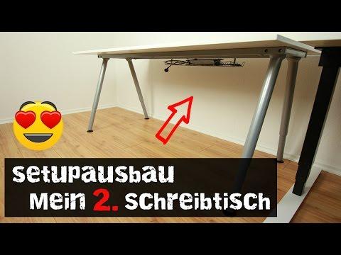 Schreibtisch vintage ikea  Setupausbau- - Mein 2. Schreibtisch (IKEA THYGE) - YouTube