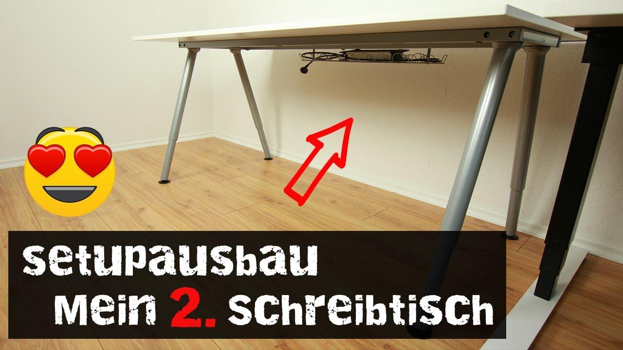 Setupausbau Mein 2 Schreibtisch Ikea Thyge Youtube