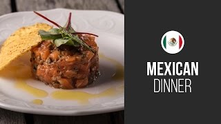 Salmon Tartare Nacho Style    Around The World: Mexican Dinner    Gastrolab