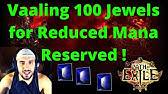 Poe Reduced Mana Reserved Gem Passive Jewel Helmet Uniques Youtube How much mana will reduced mana reserved reduce from spells that reserve mana? poe reduced mana reserved gem