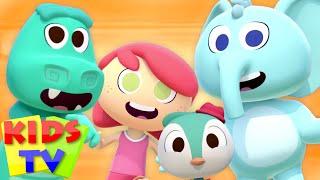 The Animal Dance | Zoo Animals | Funny Animal Cartoon | Sing and Dance | Nursery Rhymes | Kids Tv
