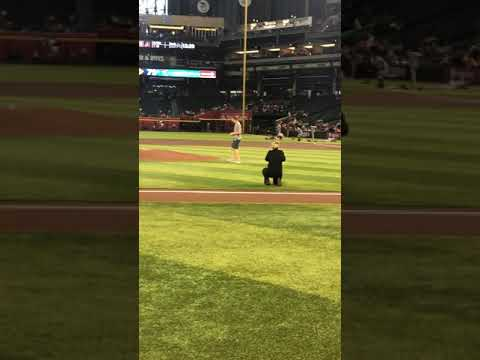 The Drive with Jody Oehler - Jody Oehler's First Pitch @ Dbacks game