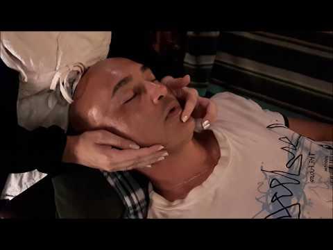 MASSAGE RELAXANT DU VISAGE - ASMR - pour les maux de tête et états d'épuisements -