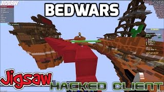 Epic Bedwars Cheating! Jigsaw Hacked Client with download link HackerX