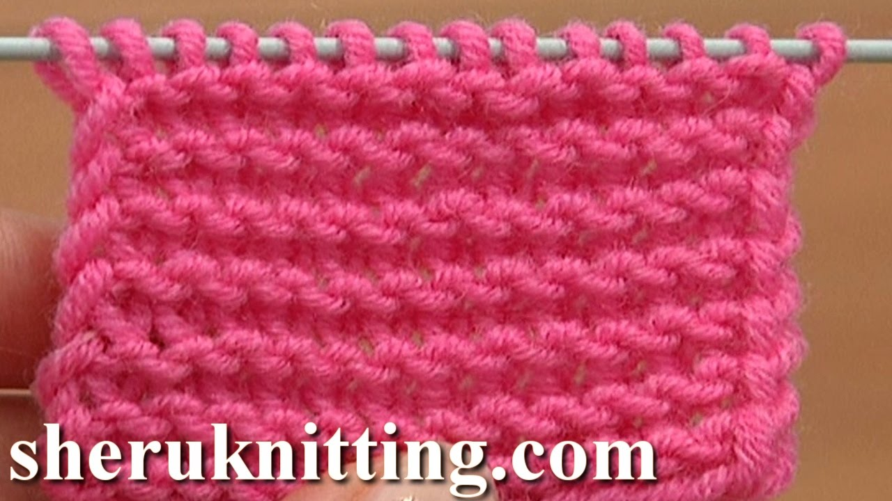 Knit The Garter Stitch Making Twisted Loops Tutorial 6 Part 1 Of 4