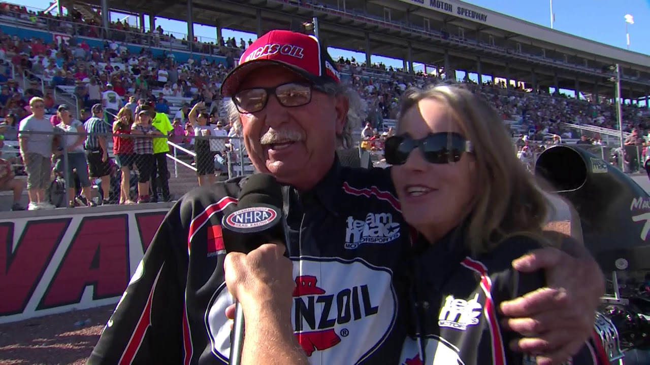 2018 DENSO Spark Plugs NHRA Four Wide Nationals Top Dragster Winner Mike MacBrair