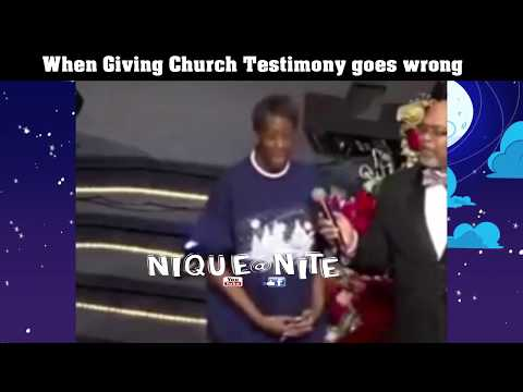 When Giving your testimony goes wrong.. Hilarious Must Watch