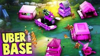 NEW UBER BASE Ultimate Fort Challenge! (Guns Up! Multiplayer Gameplay)