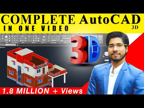 [ COMPLETE ] AutoCAD 3D IN 2 HOURS IN HINDI   CIVIL   ARCH   INTERIOR   MECHANICAL