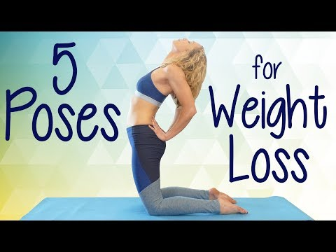 My Top 5 Poses for Weight Loss with Lindsey ♥ Detox, Belly Fat, Beginners Yoga Lesson