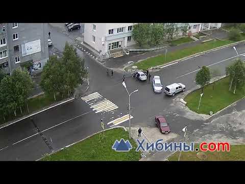 ДТП в Оленегорске. ВАЗ и VW