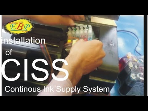 how to install/replace/remove CISS (Continuous Ink Supply System) Kit of Epson T60 in Urdu