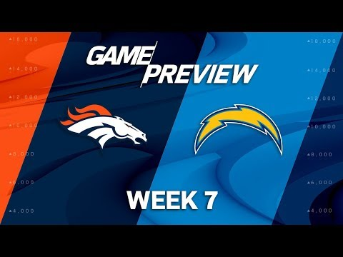 Denver Broncos vs. Los Angeles Chargers | Week 7 Game Preview | NFL Playbook