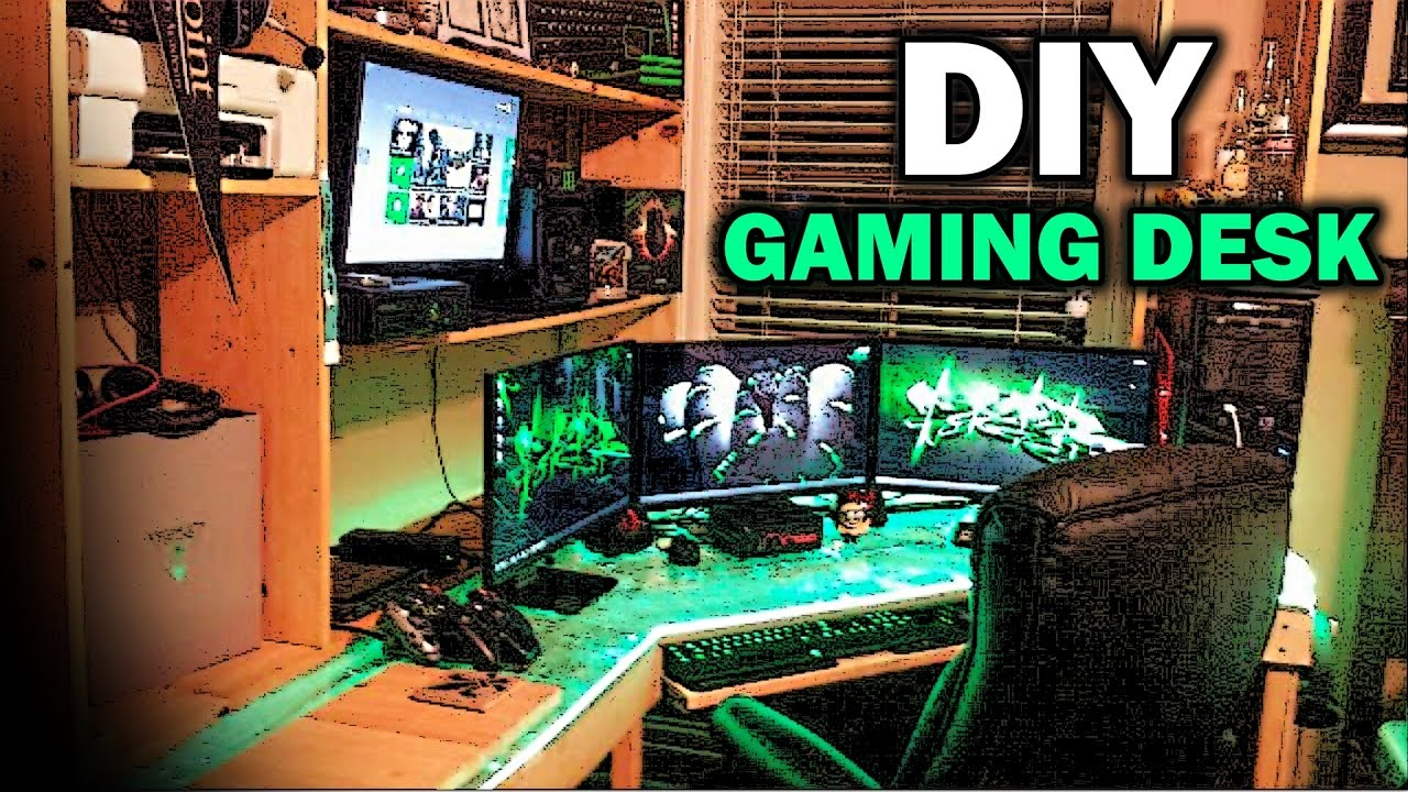 Ultimate DIY Gaming Desk - YouTube