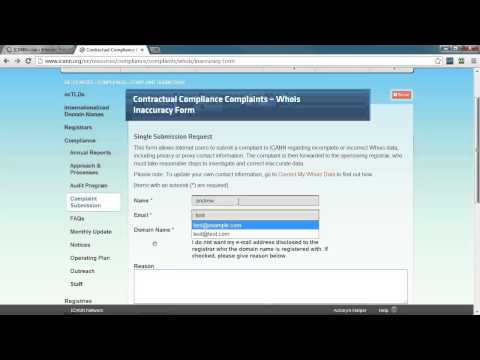 How to Submit an Invalid WHOIS Complaint - DNW.com