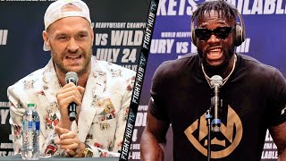 TYSON FURY VS DEONTAY WILDER 3 - FULL KICK OFF PRESS CONFERENCE & FACE OFF VIDEO