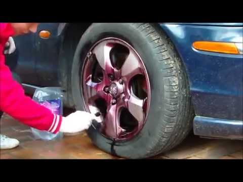 how to clean rims with carpro iron x rim wheel and car. Black Bedroom Furniture Sets. Home Design Ideas