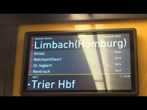 Fahrt In Der RB 71 Richtung Trier Hbf Im Neuen Alstom Corradia Continental 1440 001