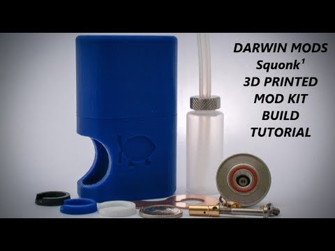 Darwin Mods Squonk¹ 18650 Mechanical 3d printed mod kit build