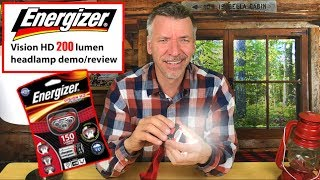SEE THE LIGHT! Review Energizer Vision HD Headlight- 200 LUMENS