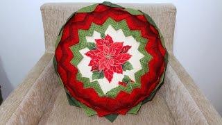 Almofada em patchwork da Flor – Maria Adna Ateliê