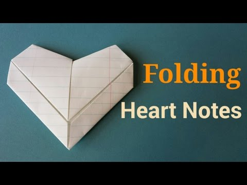 Folding Valentine Heart Notes | By Craft Happy Summer