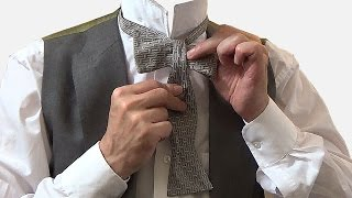 How to tie a bow tie, and a criticism of the dangly sort