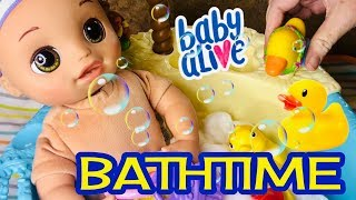Baby Alive Real as can Be BATHTIME with bubbles baby Alive hasbro