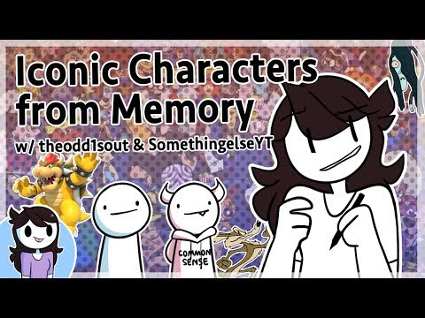 Drawing Characters from Memory w/ theodd1sout & SomethingElseYT