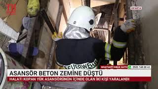 ASANSÖR BETON ZEMİNE DÜŞTÜ