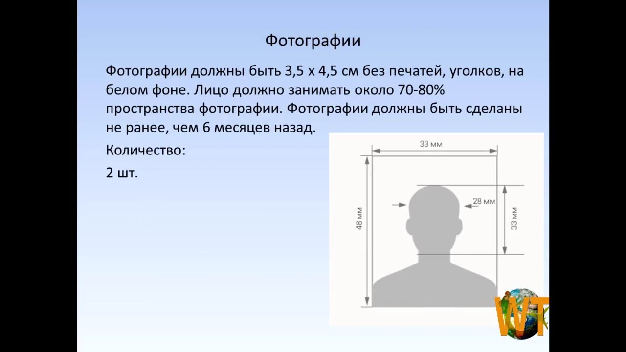 фотография на шенген визу