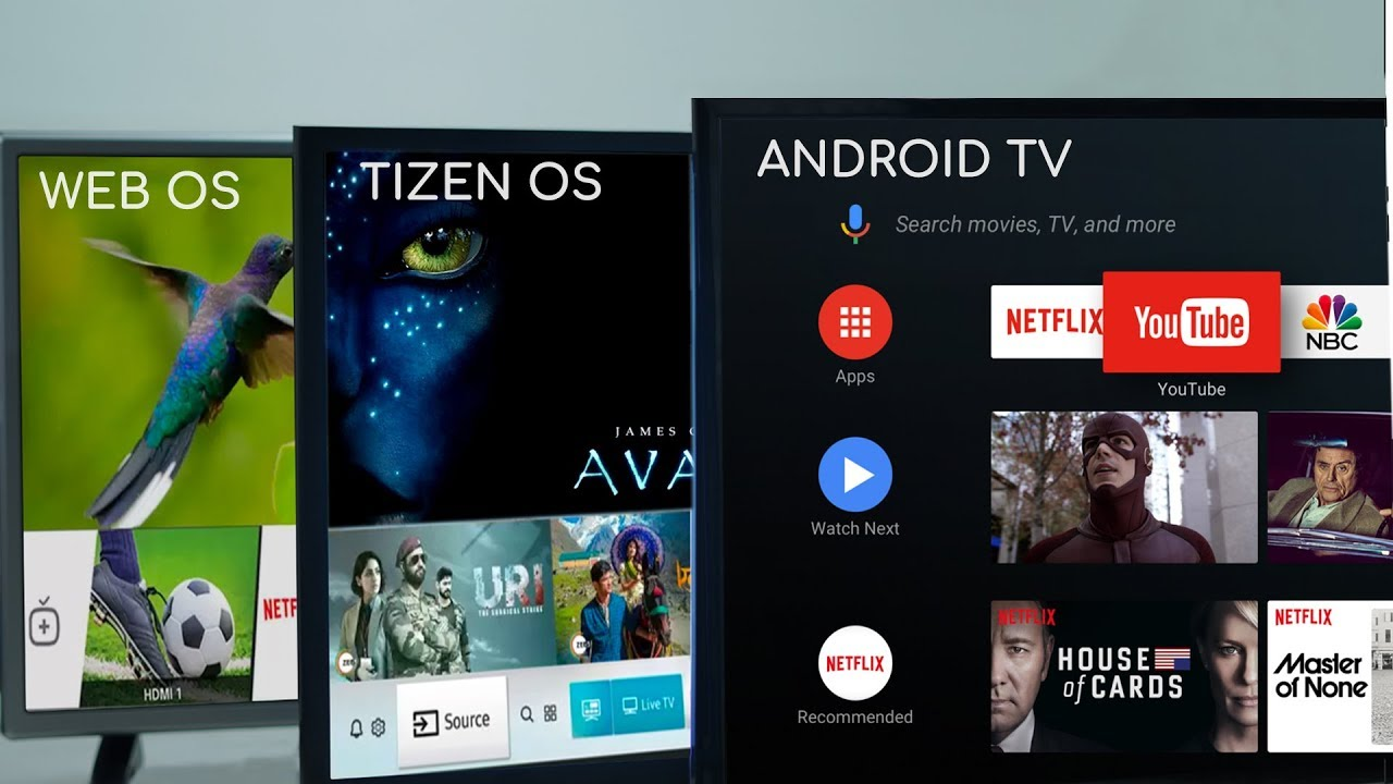 Android TV vs Samsung Tizen vs LG webOS: What's the difference ...