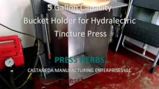 Bucket Holder for Hydra Electric Tincture Press
