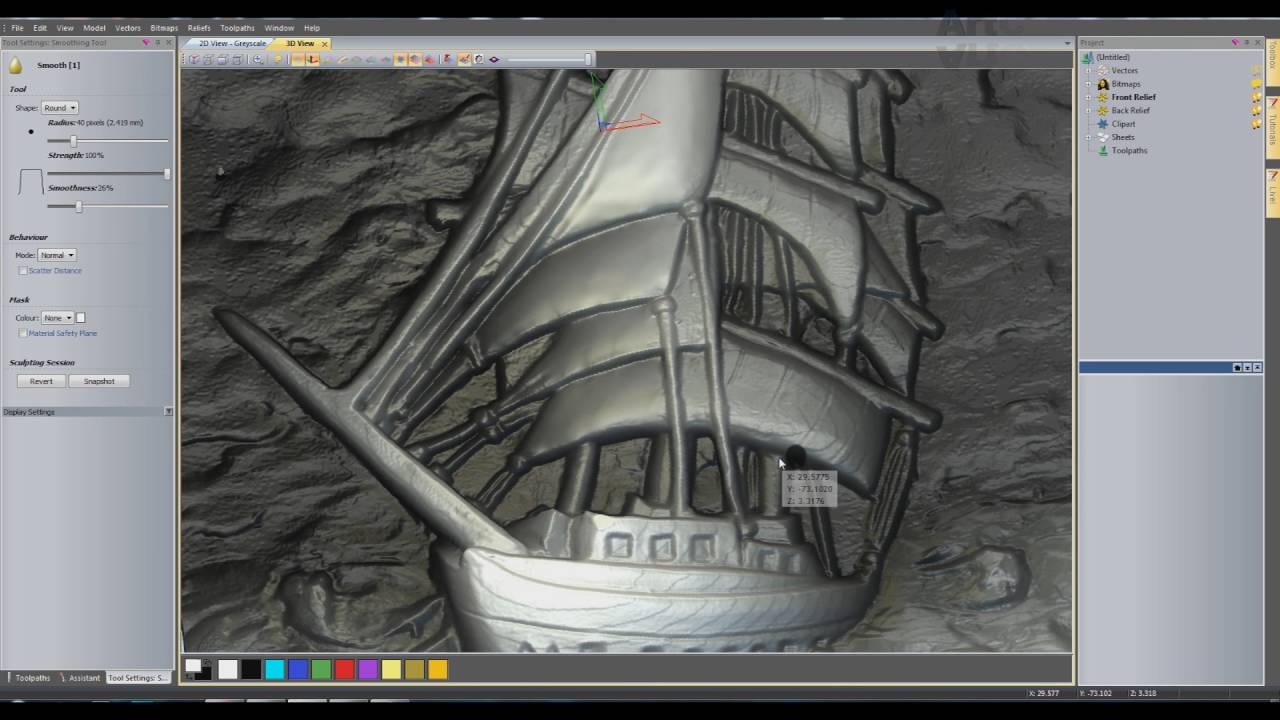 Grayscale 3d relief picture and images - The Relief Of The Images And The Smoothing Tool In Artcam