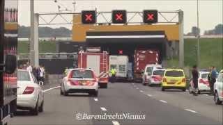 21/05/14 Zeer veel hulpdiensten met spoed naar de Heinenoordtunnel
