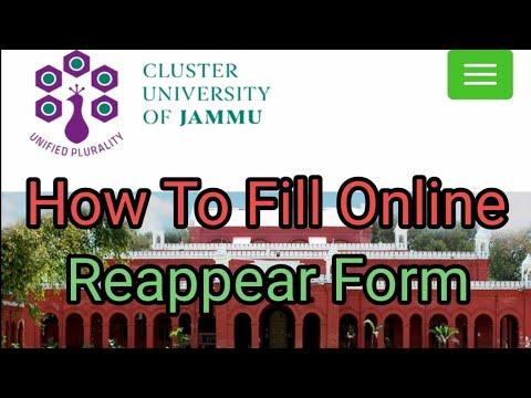 online revaluation form jammu university