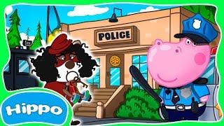 Гиппо 🌼 Детский полицейский участок 🌼 Преступник Взломщик 🌼Мультик игра для детей (Hippo)