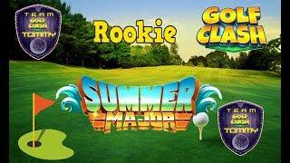 Golf Clash tips, Playthrough, Hole 1-9 - ROOKIE - TOURNAMENT WIND! Summer Major Tournament!
